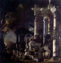 looting at the tomb by giuseppe valeriani