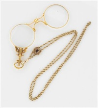 a lorgnette with chain (set of 2) by krementz