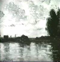 un pont sur la seine by adolphe albert