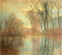 lake in the woods by hal robinson