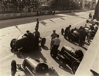 formula one motor race in monza. sept. 3, 1950 (3 works) by pasquale de antonis