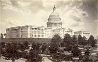 the capitol, washington d.c (+ view from capitol hill towards the potomac river, washington, d.c.; 2 works) by isaiah west taber