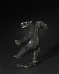 a dancing bear by davie atchealak