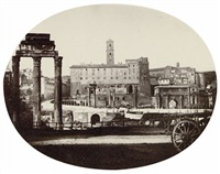 view of the forum romanum, rome by carlo baldassare simelli