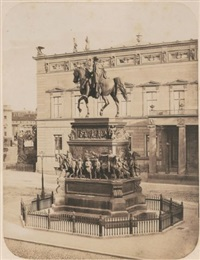 equestrian statue of friedrich ii in berlin, by christian daniel rauch by leopold ahrendts