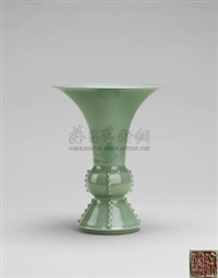 梅子青釉尊 (plum green glazed goblet) by xu dingchang