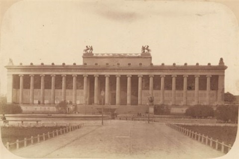 front view of the altes museum with the lustgarten by leopold ahrendts