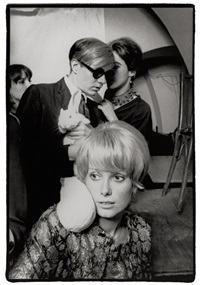 andy warhol and catherine deneuve, rue princesse by jean jacques bugat