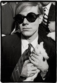 andy warhol and rabbit, rue princesse by jean jacques bugat
