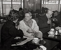 picasso at the café de flore, paris.1939 by brassaï