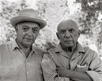 self-portrait with picasso by brassaï
