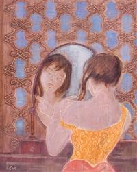 femme se coiffant by eric e. goldberg