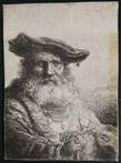 old man with flowing beard and velvet cap by ferdinand bol