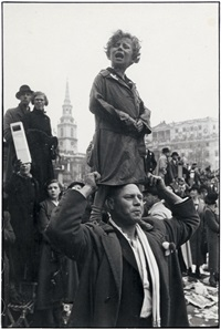 coronation of king george vi, trafalgar square, london by henri cartier-bresson