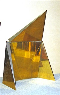 untitled (folding triangular wall sculpture) by peter lobello