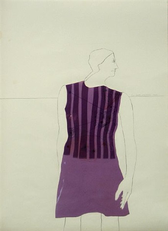 striped dress ray by lynn hershman leeson