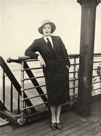 marlene dietrich aboard the bremen by richard fleischhut