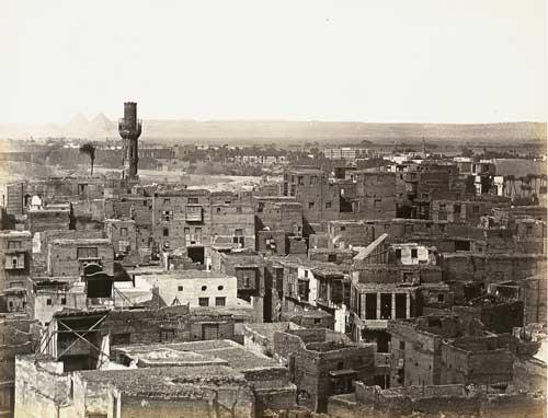 haupt ansicht von cairo von der citadelle linke seite partie von cairo gesehen vom minaret der moschee touloun 2 works by wilhelm hammerschmidt