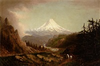 mount rainier from the puyallup river indian trail by cleveland rockwell