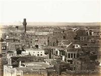 haupt-ansicht von cairo, von der citadelle, linke seite und partie von cairo, gesehen vom minaret der moschee touloun (2 works) by wilhelm hammerschmidt