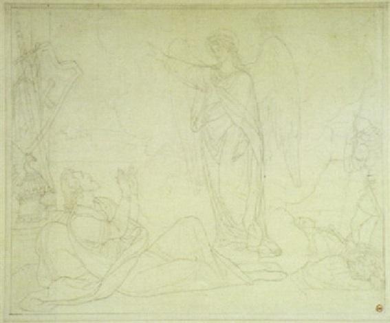 der engel gabriel erscheint dem herzog gottfried von bouillion by peter von cornelius