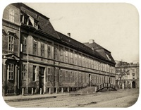 views of the former von hordt'sche palais, wilhelmstraße 69, at the corner of unter den linden (+ another, smllr.; 2 works) by leopold ahrendts