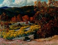 autumn in tesuque, new mexico by carl von hassler