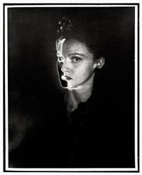 female portrait, solarized by erwin blumenfeld