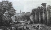 the forum, rome, now campo vaccino by joseph josiah dodd