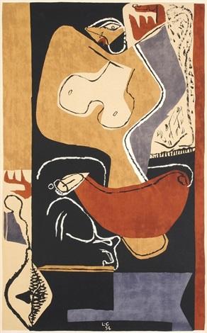 femme à la main levée by le corbusier
