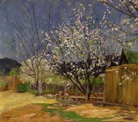 spring blossoms by walter ufer