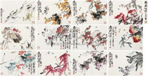 花卉 album w12 works by qi liangzhi