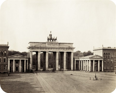 brandenburg gate 2 others set of 3 by leopold ahrendts