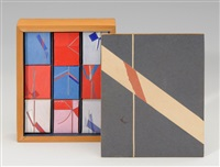 ohne titel (9 boxes in lrgr wooden box; set of 10) by claude loewer