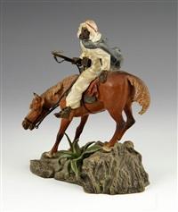 arab horseman by franz bergman