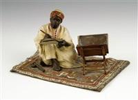 figure of an artist on a carpet by franz bergman