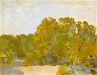 a grove of trees in the sun by fernand harvey lungren