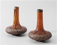vasen (pair) by cristallerie d'emile gallé