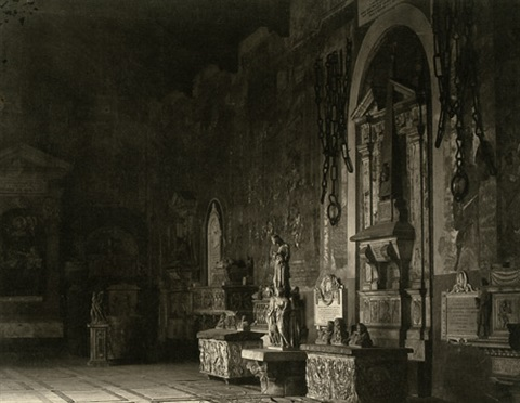 interior view of the camposanto pisa 8 others 9 works by fratelli alinari