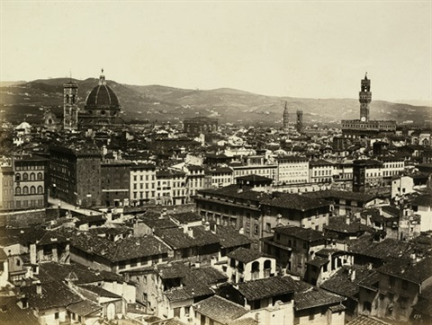 view of florence side portal of florence cathedral 2 works by fratelli alinari