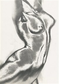 solarized female nude by franz fiedler