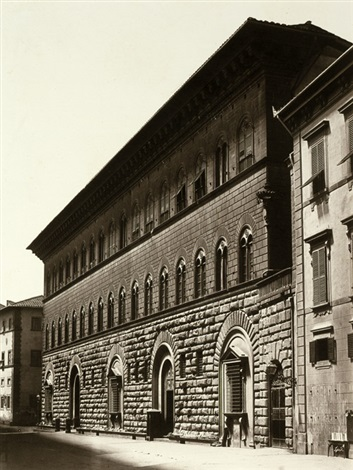 view of palazzo medici florence by fratelli alinari