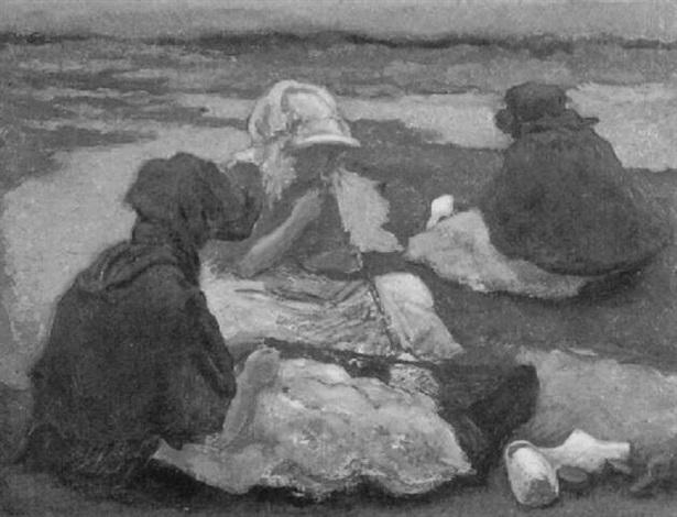 three women in a field by cees bolding