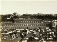 view of palazzo pitti, florence (+ or san michele, florence; 2 works) by fratelli alinari