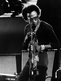 miles davis in concert at the berliner philharmonie during the berliner jazztage by axel benzmann