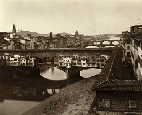 view of ponte vecchio florence by fratelli alinari