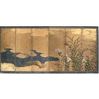 autumn plants and grasses by japanese school-kano (17)
