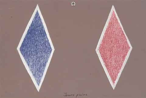 jours pairs. jours impairs (2 works) by meret oppenheim