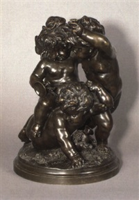 drei herumtollende putti by paul emile machault