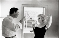 marilyn monroe and yves montand, beverly hills, ca by bruce davidson
